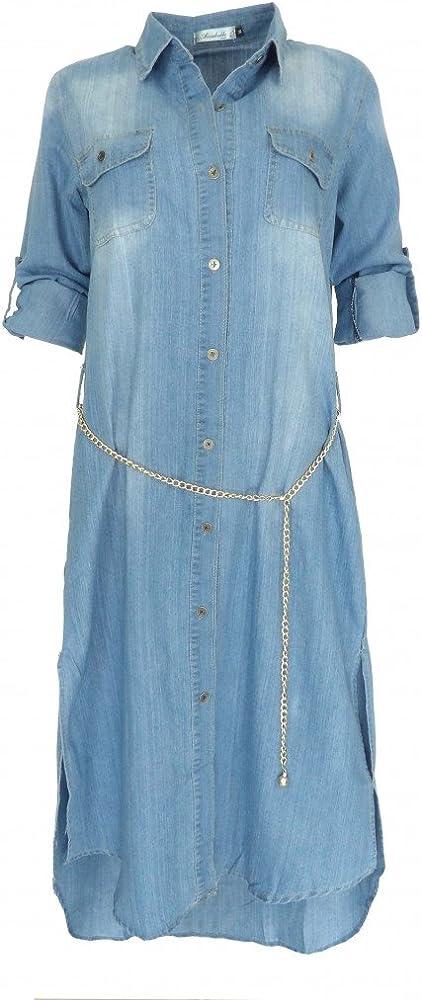 Robe longue couleur jean