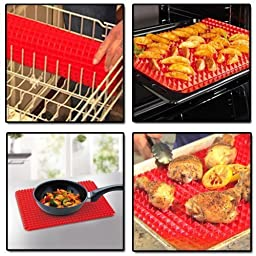 2 Ct Silicone Baking Mat Cooking Sheets Non-stick Fat-reducing 16\