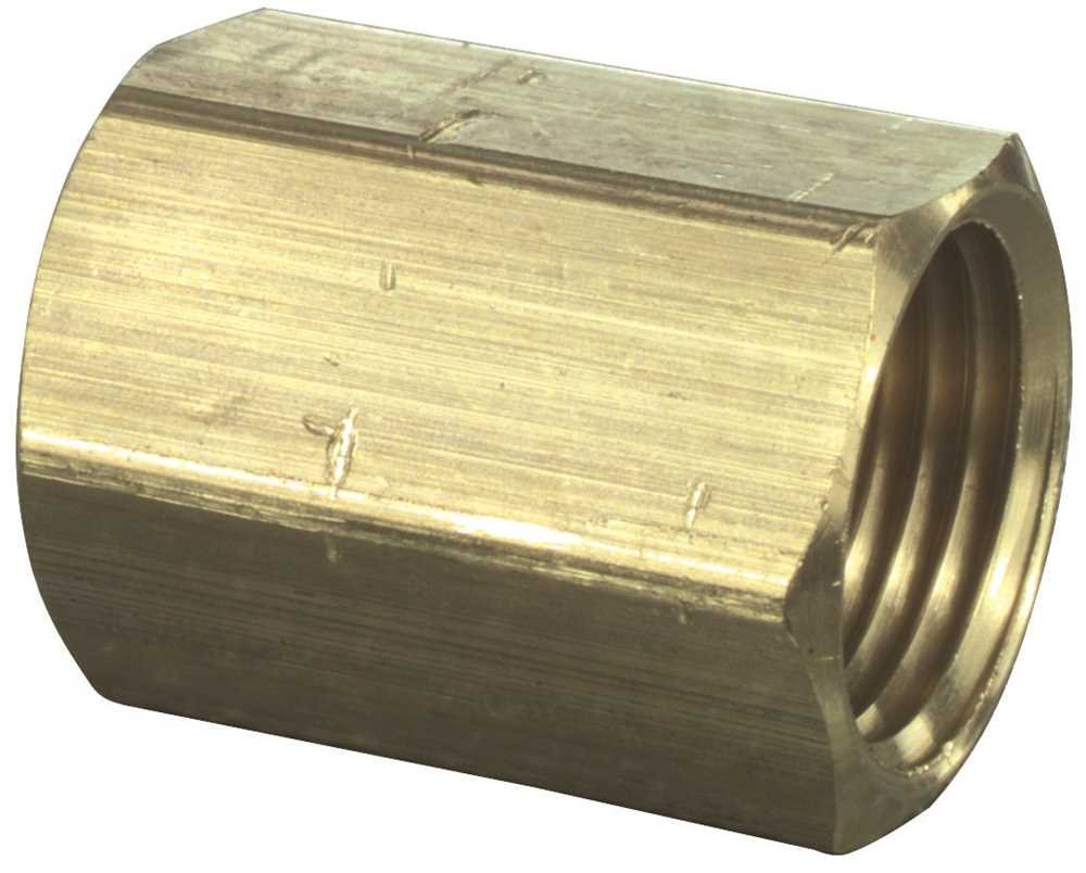 290312 SIOUX CHIEF GIDDS-290312 Watts Brass Coupling 1//4 Lead Free