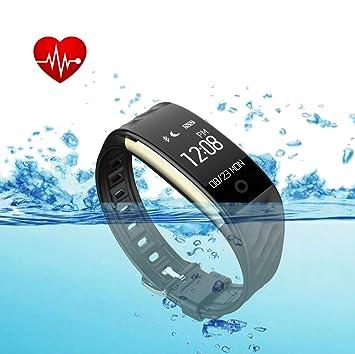 Actividad Tracker impermeable con monitor de frecuencia cardiaca, Fitness Tracker para Niños, Hombres y Mujeres, monitor de sueño pulsera con GPS de ...