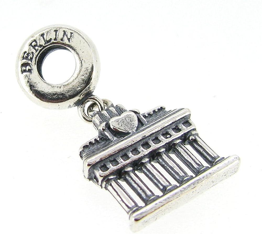 Dreambell 925 Sterling Silver World Travel Tourist Bead for European Charm Bracelet