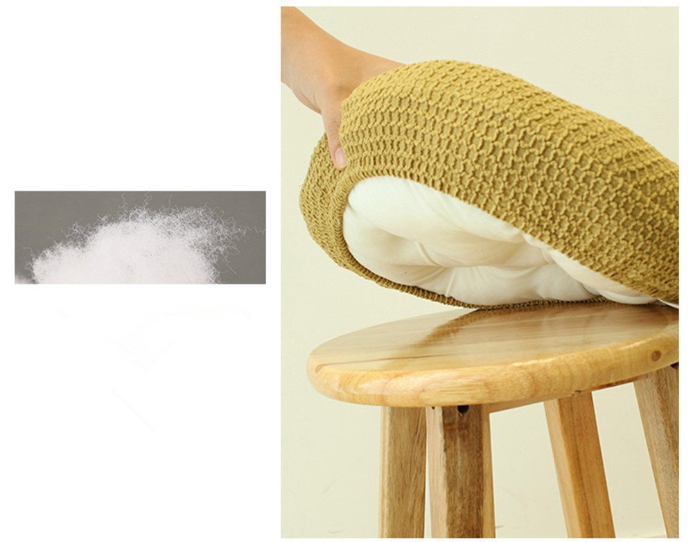 Olywell 12'' Round (31cm) Bar Stool Cover, Breathable Fabric to Protect or Make Your Stool Chairs New,Suitable for Adjustable Stool/Round Wooden Chair