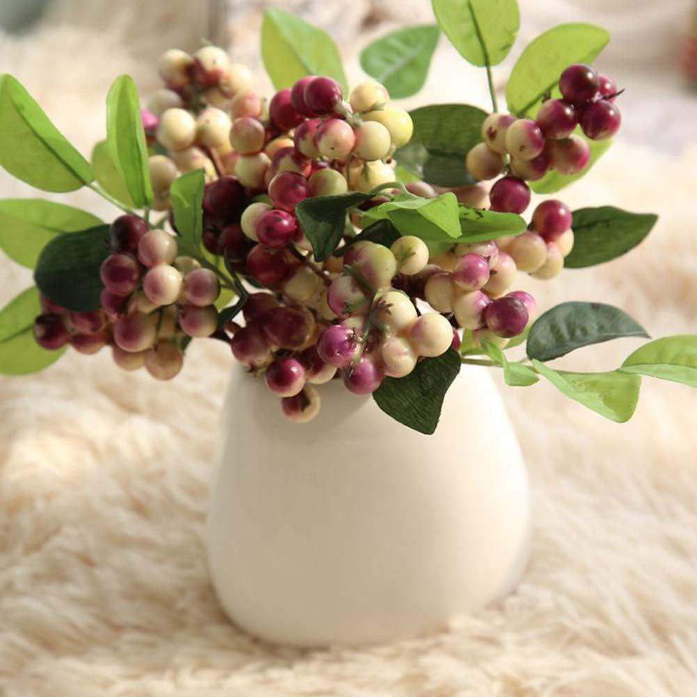 12pcs Artificial Berry Stems 24cm Long Xmas Fruit Berry Flower Branch Blue