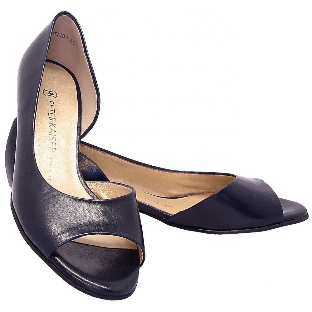 3518e4f84f7b Peter Kaiser Itha low heel open toe shoes in navy NAVY 5.5  Amazon.co.uk   Shoes   Bags