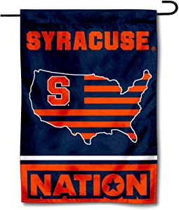 College Flags & Banners Co. Syracuse Orange Garden Flag with USA Stars and Stripes Nation