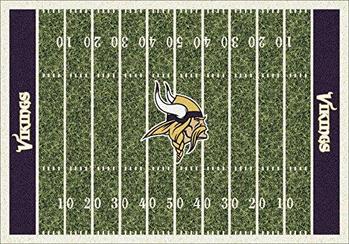 Minnesota Vikings NFL Team Home Field Area Rug by Milliken, 5'4