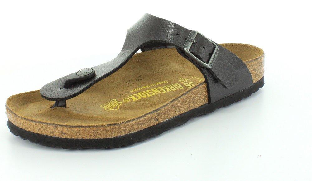 Birkenstock Gizeh, Zapatillas de Gimnasia Unisex Niños 37 EU|Licorice