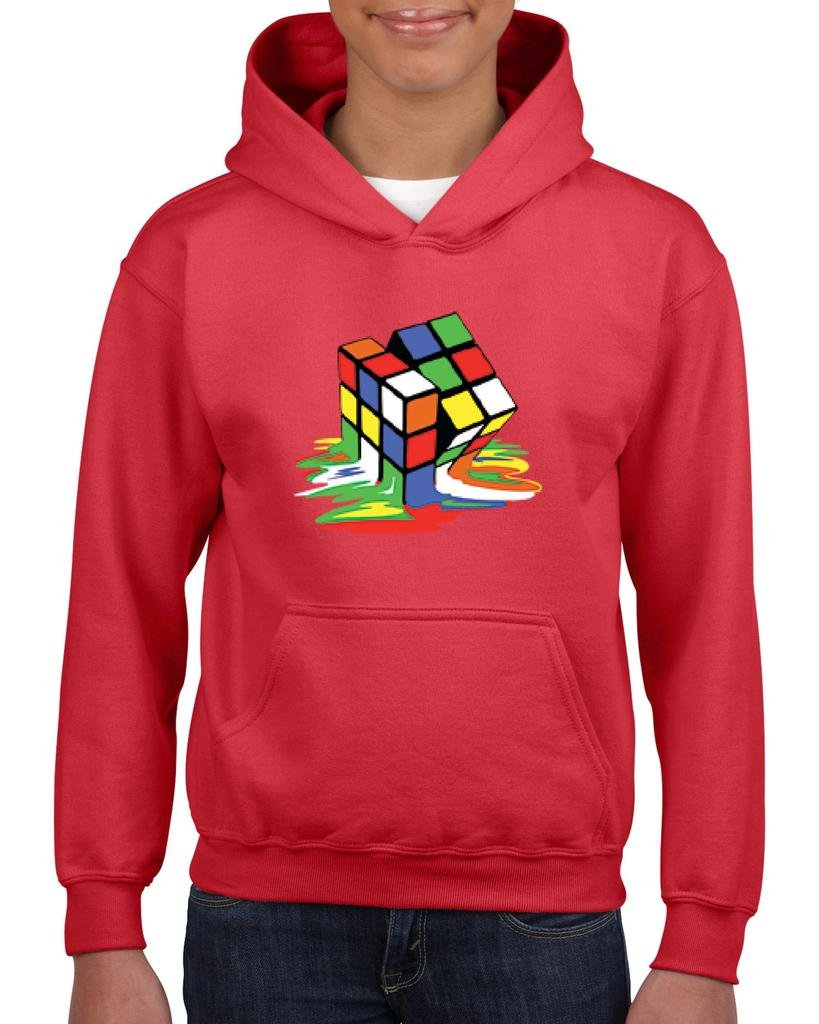 Xekia Melting Rubiks Cube Rubik Cube Hoodie For Girls and Boys Youth Kids