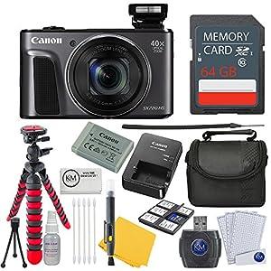 Canon PowerShot SX720 HS Digital Camera + 64GB Card + Photo Accessory Bundle