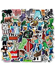Potota Minecra_ft Stickers  50 Pack  Vinyl Waterproof Stickers for Laptop,Bumper,Water Bottles,Computer,Phone,Hard hat,Car Stickers and Decals,(Minecra_ft-50)