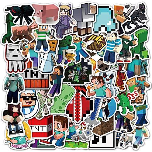 🥇 Minecraft Stickers  50 Pack  Vinyl Waterproof Stickers for Laptop