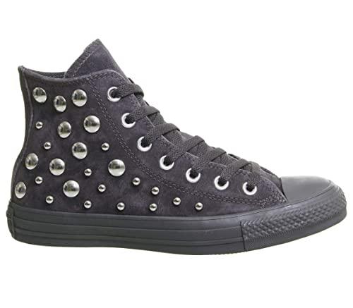 27e3af7342f345 Converse All Star Hi Lthr Almost Black Multi Studio Exclusive - 3 UK