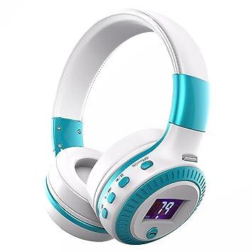 Longteng Zealot inalámbrico Bluetooth Headset cancelación de ruido estéreo 3d lcd auriculares y # xFF0 C; blanco-azul: Amazon.es: Electrónica