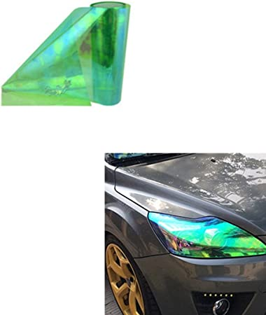 Aby 200cm X 30cm Scheinwerfer Folie Tönungsfolie Aufkleber Für Auto Scheinwerfer Rückleuchten Blinker Nebelscheinwerfer Grün Auto