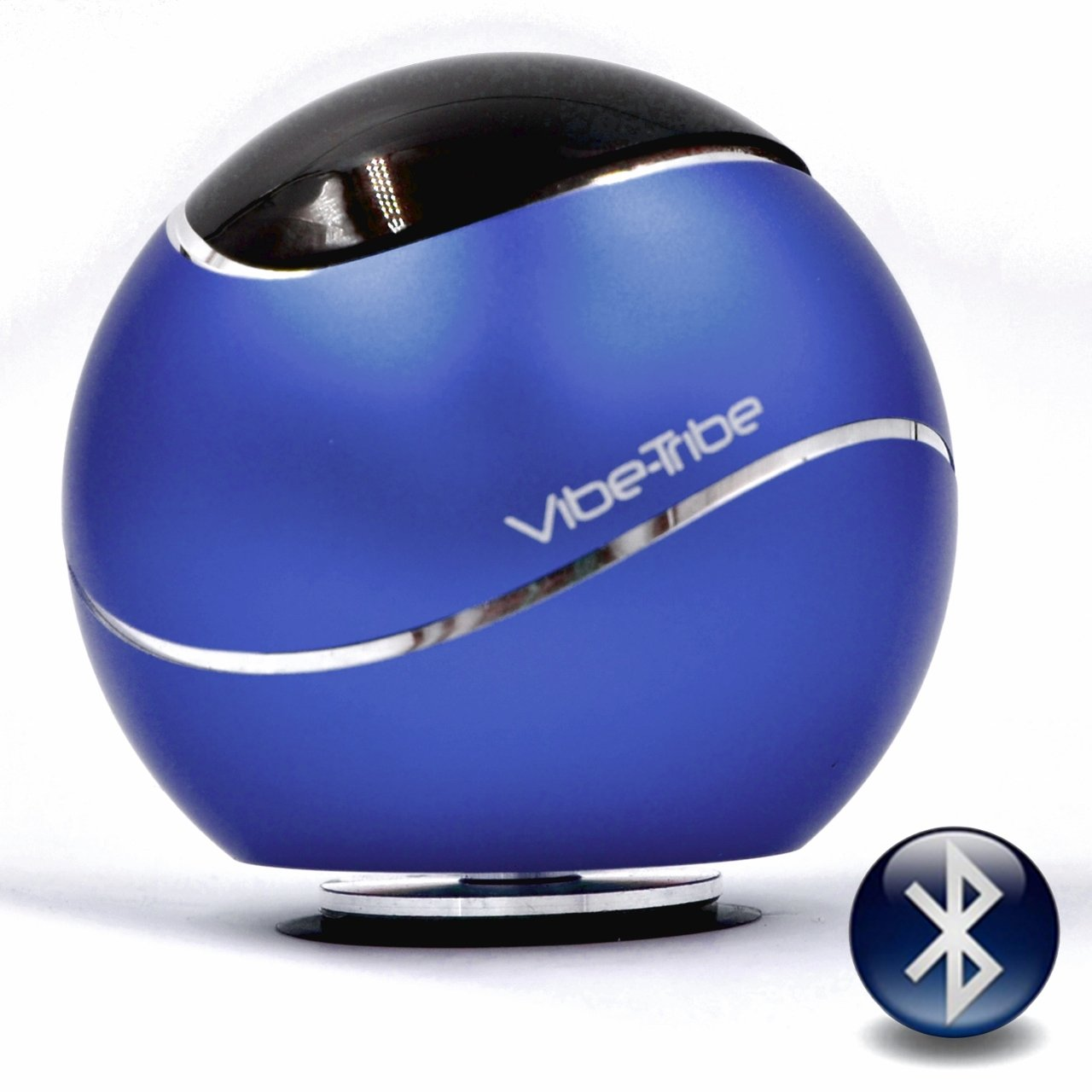 Vibe-Tribe Orbit Yale Blue: 15 Watt Bluetooth Vibration Speaker with Hands Free
