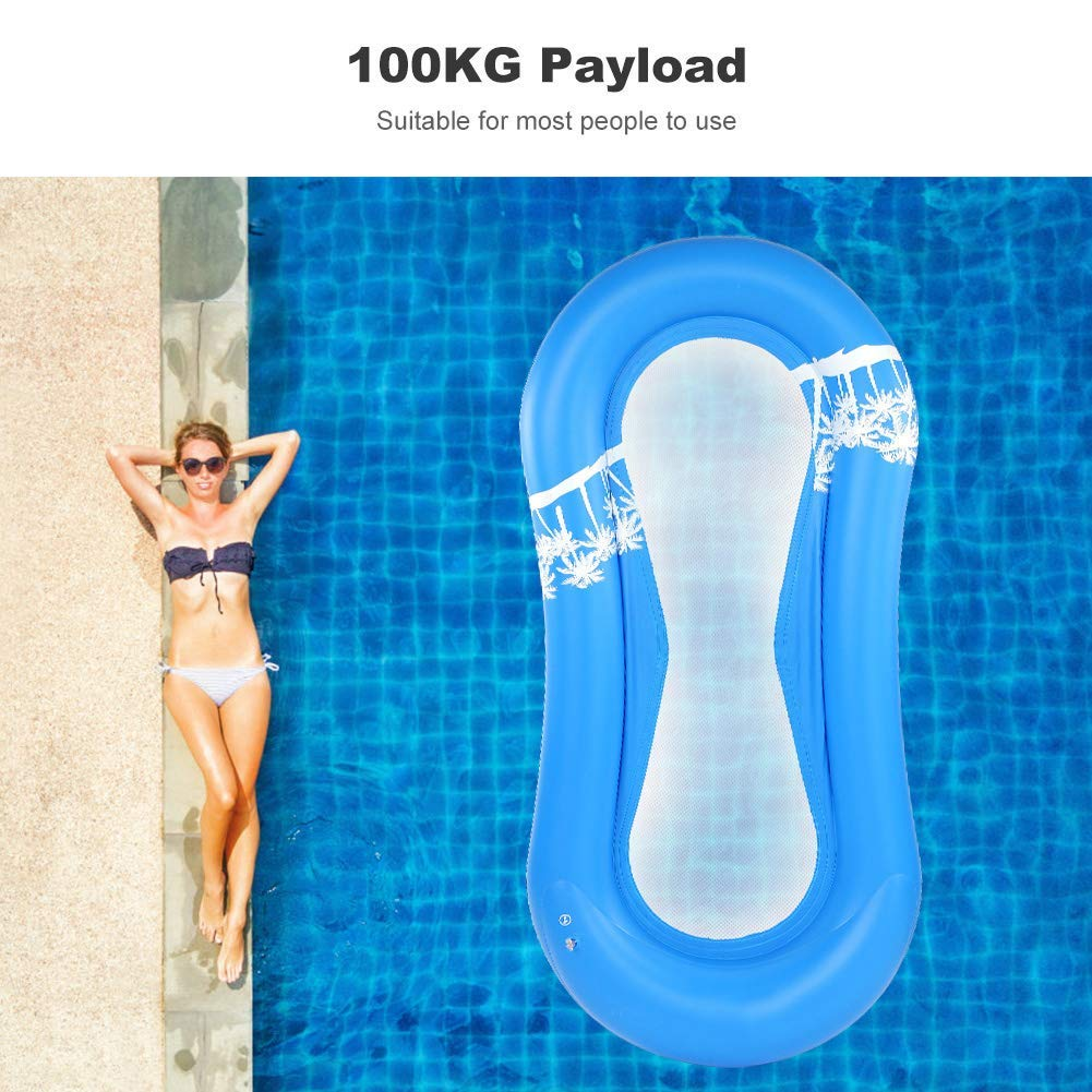 Amazon.com: Pool Floats, Inflatable Water Floating Bed, PVC ...