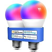 Meross Bombilla LED Multicolor, Inteligente, WiFi, Regulable, Mando a distancia, 60 W, Equivalente a E27, 2700-6500 K…