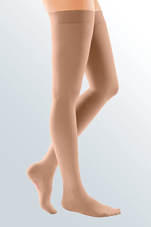 1db87a5ba5 I , Natural : Mediven Comfort 15-20 mmHg Thigh High CT w/Silicone Band -  18101: Amazon.in: Sports, Fitness & Outdoors