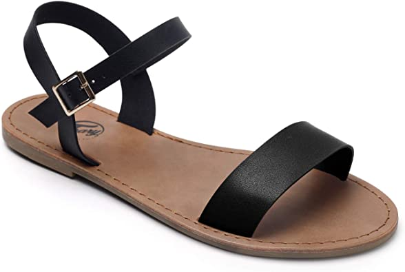 Trary Ankle Strap and Metal Buckle