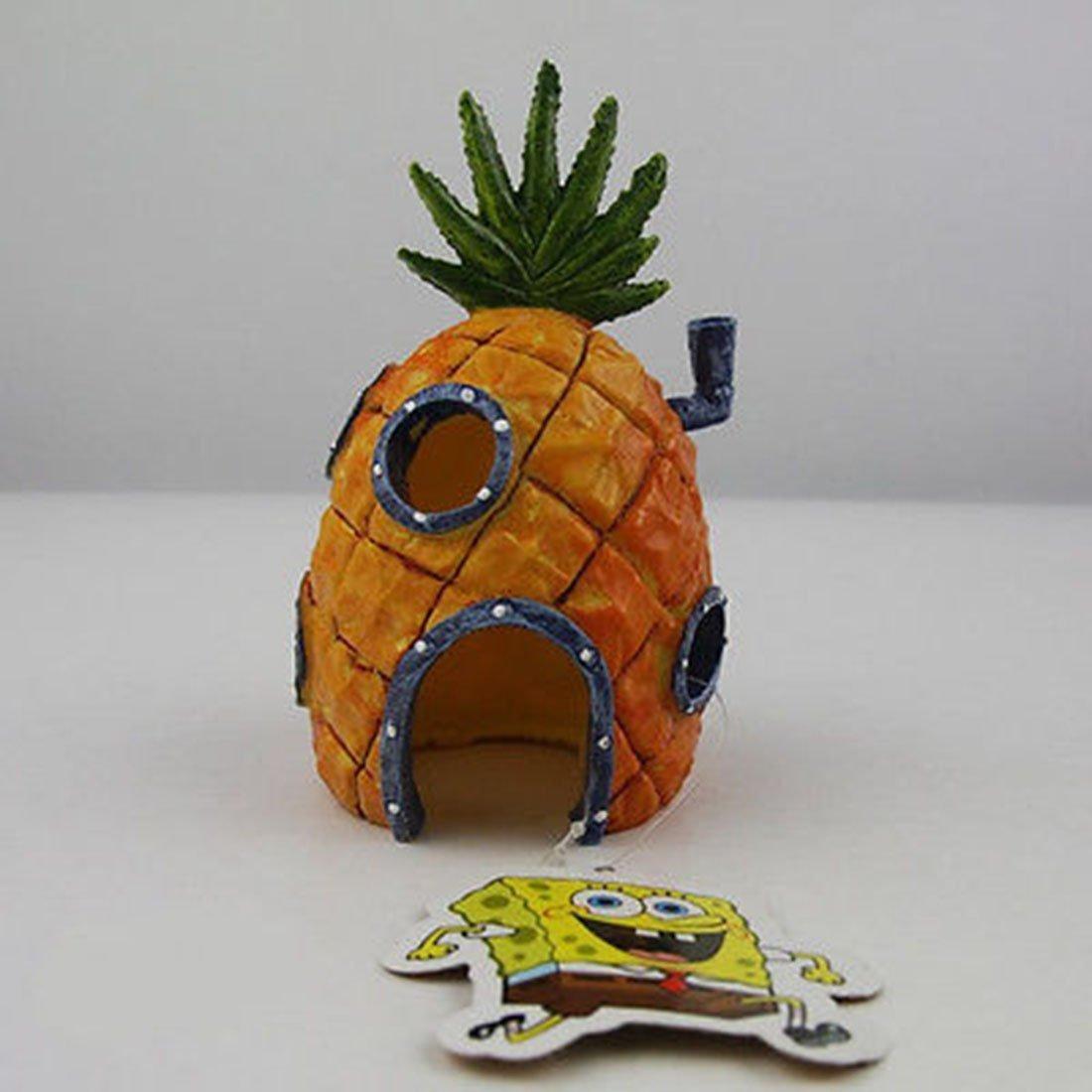 Casa De Piña Adorno de Acuario Decoración paisajismo dibujos animados Home Mini Luwu-Store SHOMLU3733