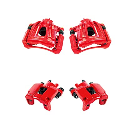 REAR Premium Grade OE Powder Coated Semi-Loaded Caliper Assembly Pair Set CK00954 2