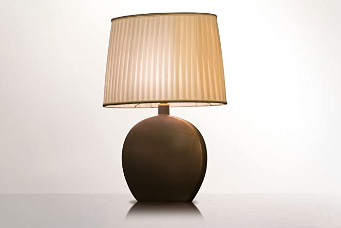 Lampada da tavolo in Ceramica Toscana e tessuto, lampada per il ...