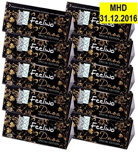 10x 2er-Box DUOS edle Weißtee-Teeblumen mit je