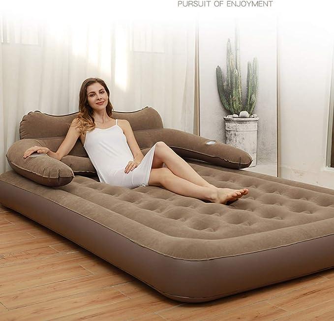 Amazon.com: Colchón de aire de tamaño queen, cama inflable ...