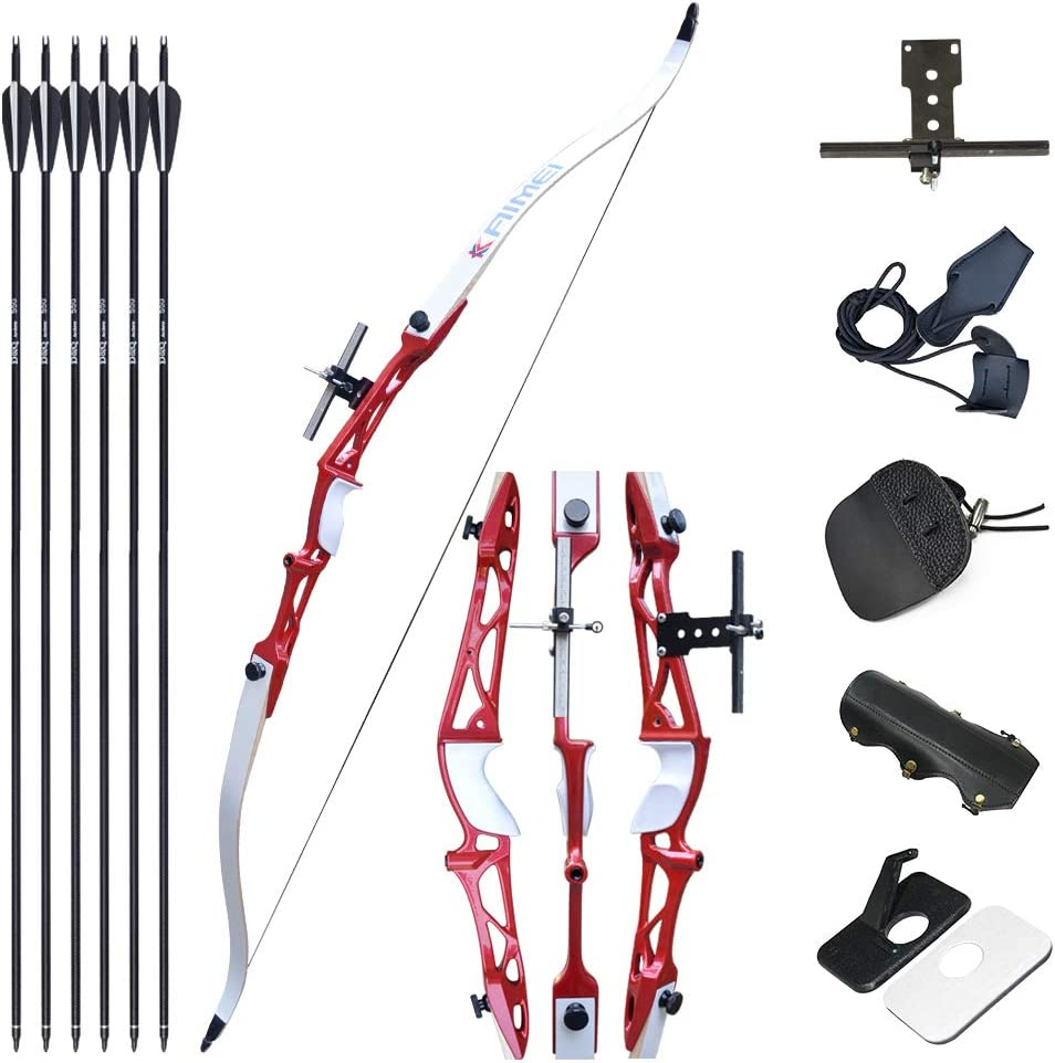 Left or Right Hand 30LB 40LB Bow Length 53.5 Takedown Bow Archery Hunting Tongtu Multicolor Recurve Bow Arrow Set,Straight Bow for Teens or Beginner