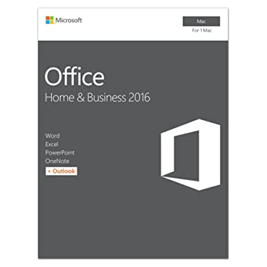Microsoft Office Home and Business 2016 for Mac | 1 user, Mac Key Card
