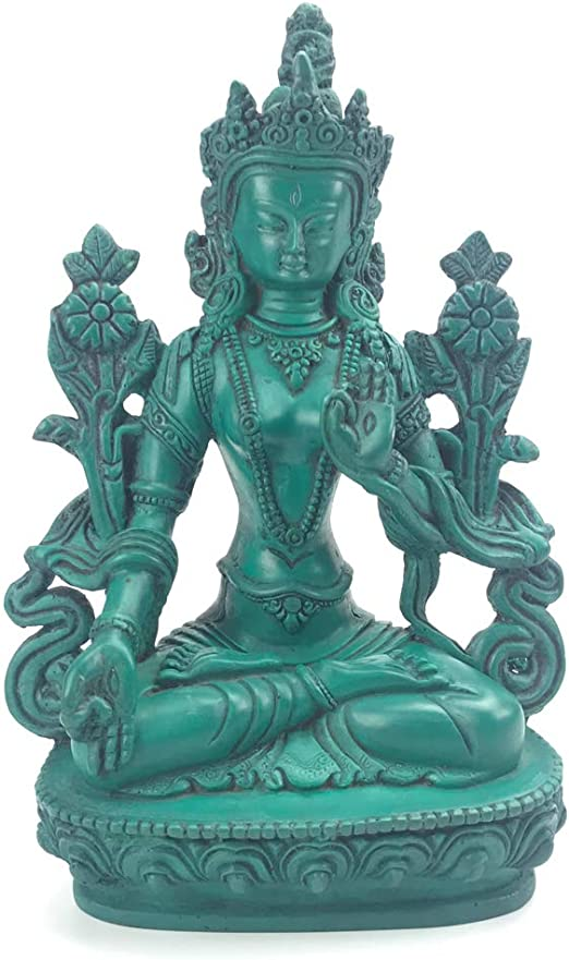 Chinese Handmade Carved  Statue People Ancient beauty Natural Turquoise Deco Art