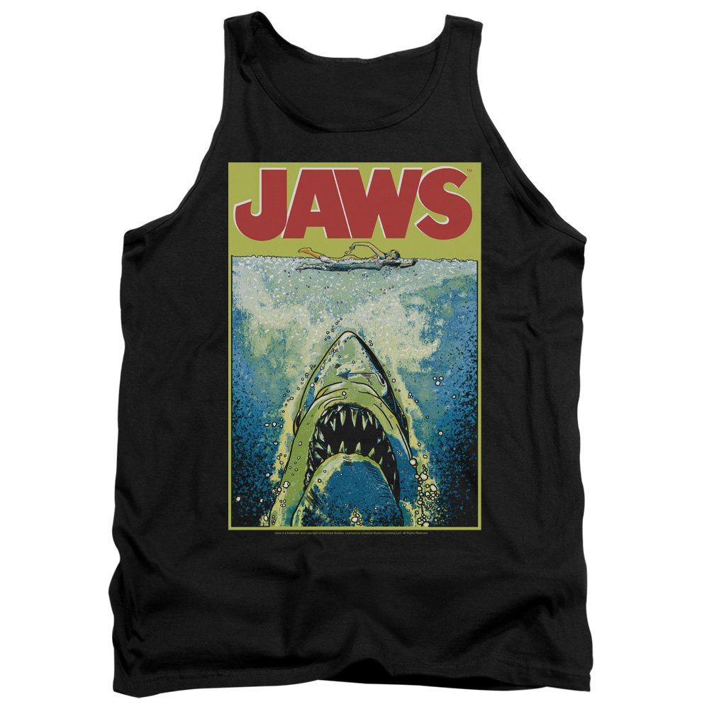 Jaws Bright Mens Tank Top Shirt Trevco