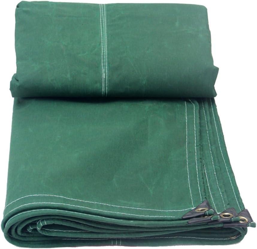 GRPB Toile de Toile de Coton b/âche imperm/éable /à leau r/ésistant /à la Pluie de Toile de Coton antid/érapante Industrielle Traditionnelle Verte r/ésistante /à leau Couleur : Vert fonc/é, Taille : 5