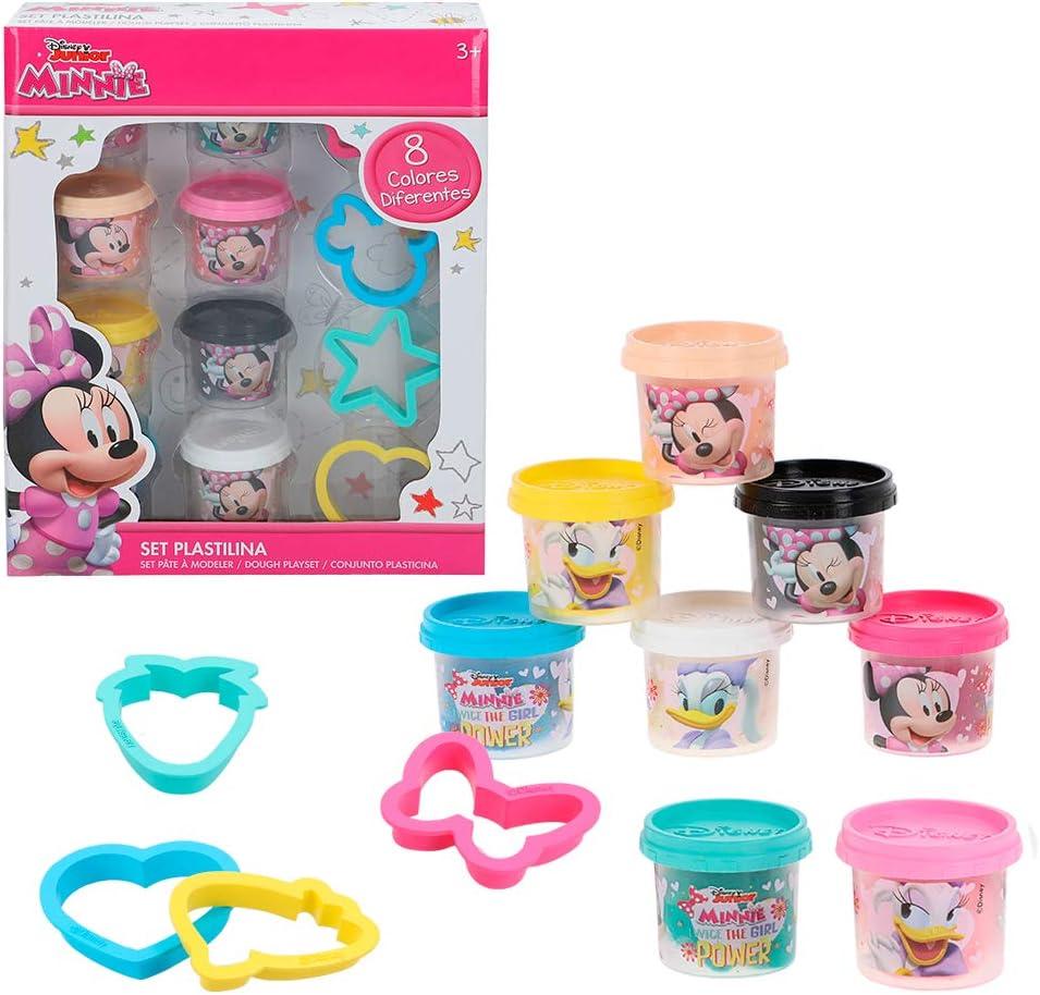 Disney - Kit plastilina Minnie 8 botes de 28 g con moldes y ...