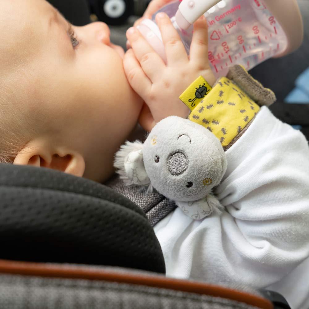 Sch/ütteln /& Ger/äusche erzeugen Rasseln Lernspielzeug f/ür Babys und Kleinkinder ab 0+ Monaten FEHN 060485 Rasselarmband B/är // Activity-Armband mit niedlichem Tier-K/öpfchen zum Greifen