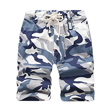34939408bf Amazon.com: LOKTARC Boys' Slim Fit Pull-On Camo Cargo Shorts: Clothing