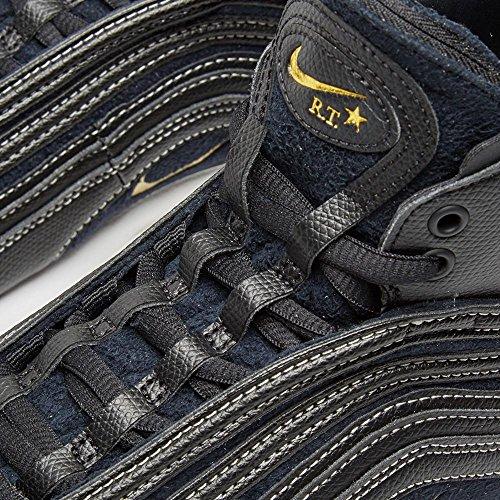 Nike Mens Air Max 97 Mid Tisci Nero / Pelle Metallizzata Oro Taglia 12