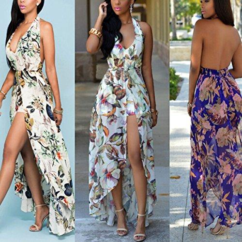Vestido LIMEI + Pantalones Cortos De Vestir De Impresión Vestido De Gasa De Las Mujeres White