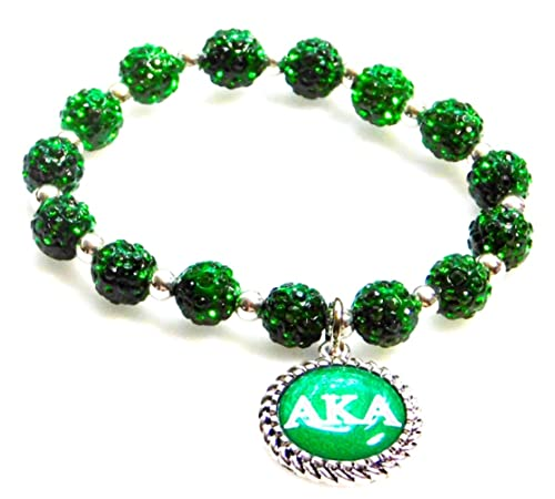9d2ac251d Amazon.com: Nathan J. Alpha Kappa Alpha Sorority Beads AKA Letter ...