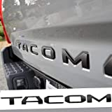 Auto safety Tailgate Insert Letters for Toyota Tacoma 2016 2017 2018 2019 2020 3D Raised Zinc Alloy Rear Emblem Decals with 3M Adhesive-Matte Black
