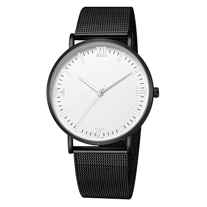 Amazon.com : XBKPLO Quartz Watches Mens Fashion Minimalist Thin Sport Analog Wrist Watch Stainless Steel Mesh Strap Business Watch Jewelry Gift : Pet ...