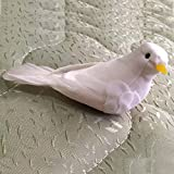 12 PCS / White Foam Feather Bird Ornaments Small