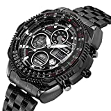 Infantry Mens Military Tactical Sport Watch Analog Digital Wrist Watches for Men Stainless Steel Band