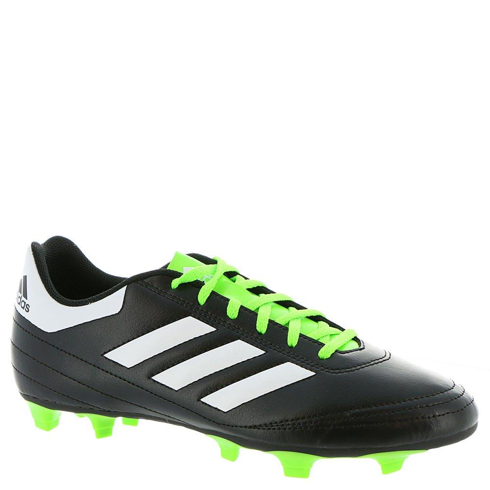 adidas Men's Goletto VI FG Soccer Shoe, Black/White/Solar Green, 9.5 M US