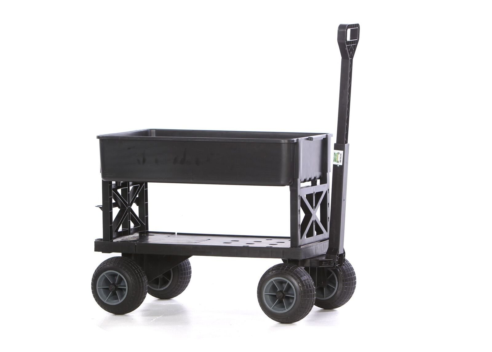 Mighty Max Cart Plus One All-Purpose Utility and Garden Cart with Black Tub and with All-Terrain Weatherproof Wheels