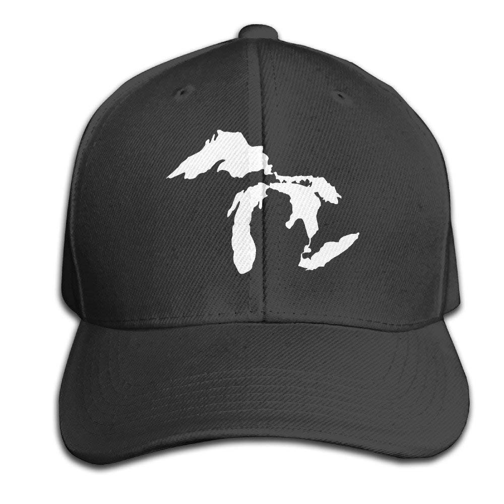size 40 6255f e3094 Jermily-Caps Michigan The Great Lakes State Casual Cap Hats Adjustable Black  Baseball Cap Fantaisie Casquettes ...