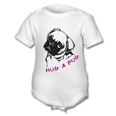 Hug Rug un carlin Body (Noir sur Blanc)