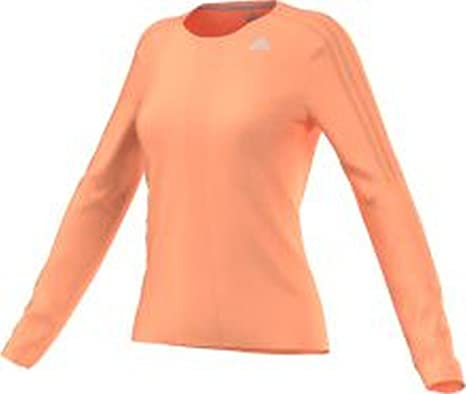 adidas Response, Langarm-Damen-T-Shirt, Orange