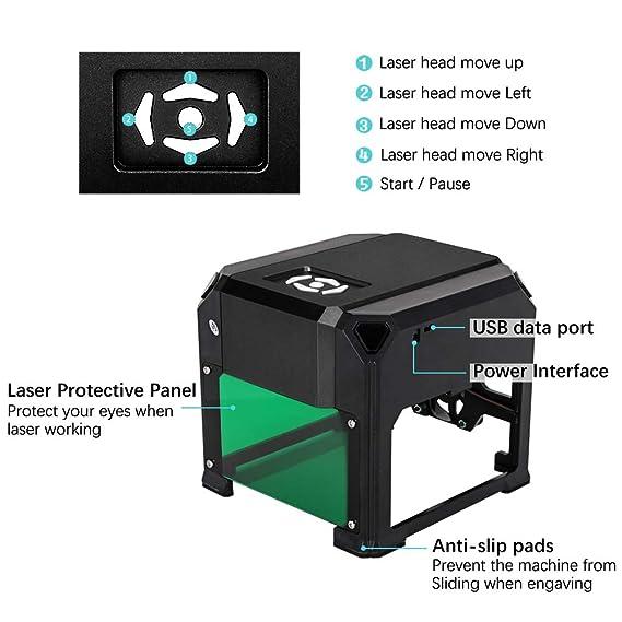 Amazon.com: TopDirect 3000 mW máquina de grabado láser mini ...