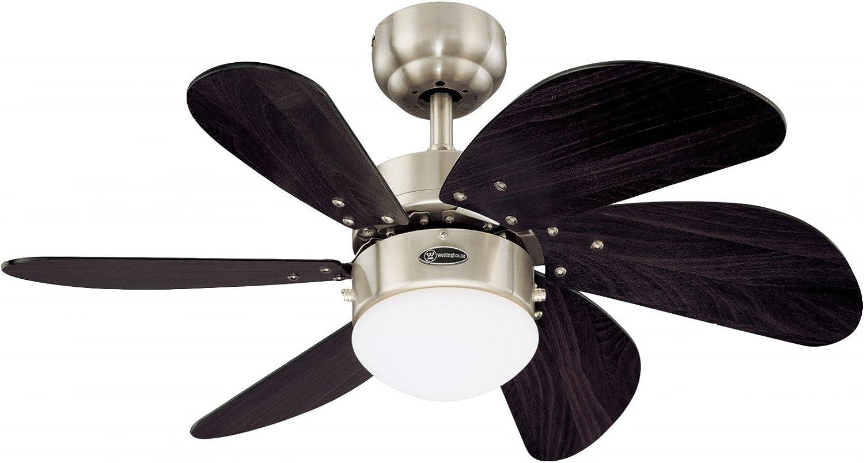 Westinghouse Swirl Ventilador de Techo Turbo, 80 W, Wengué y Níquel
